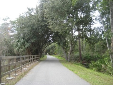 Florida biking, East Central Rail Trail, Enterprise, Osteen
